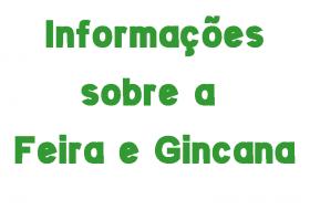 INFORMAÇÕES SOBRE A FEIRA/GINCANA 2019